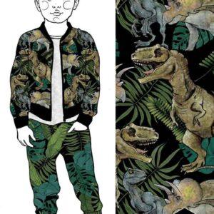 Jurassic Bomber ja Junglerama Housut Black Havainnekuva